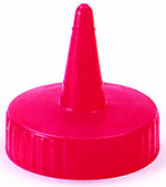 Vollrath 2813-02 Traex Squeeze Dispenser Cap, Red