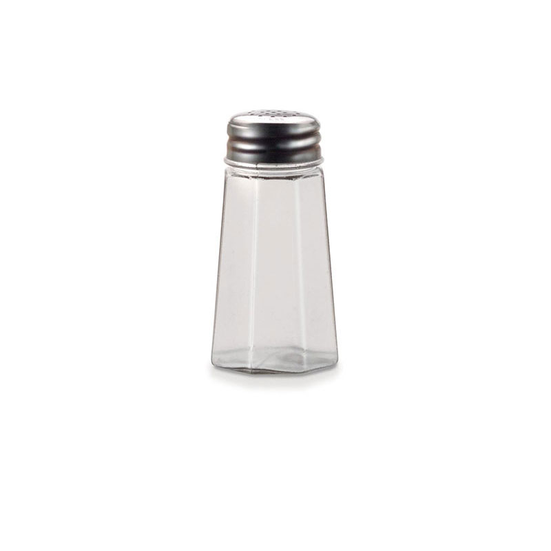 "Vollrath 302-0 3.5"" Salt/Pepper Shaker w/ Metal Lid, Paneled"
