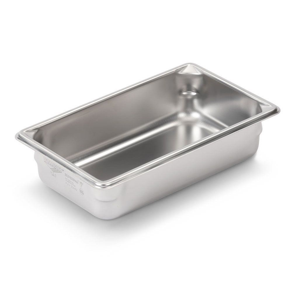Vollrath 30342 Super Pan V Third-Size Steam Pan, Stainless