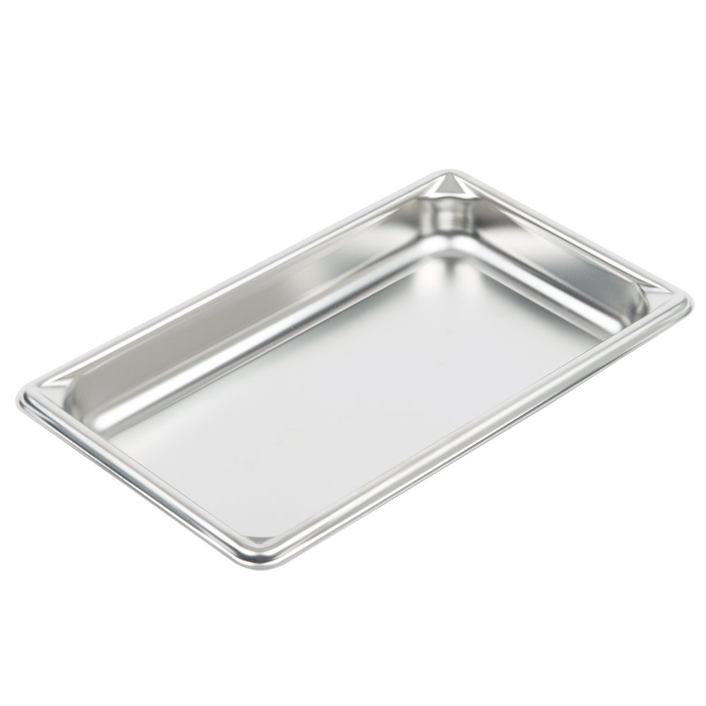 Vollrath 30412 Fourth-Size Steam Pan, Stainless