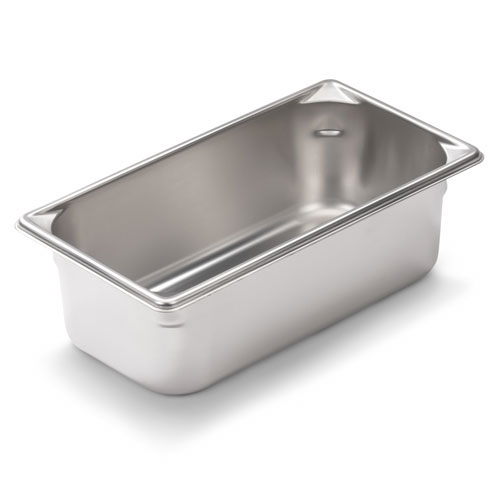 Vollrath 30462 Super Pan V Fourth-Size Steam Pan, Stainless