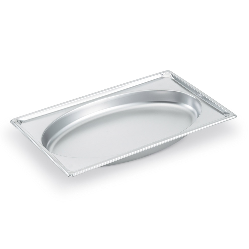Vollrath 3101040 Super Pan Shapes Full-Size Steam Pan - Oval, Stainless