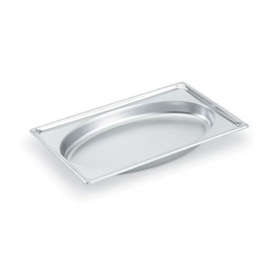 Vollrath 3101040 Full-Size Oval Steam Pan, Stainless