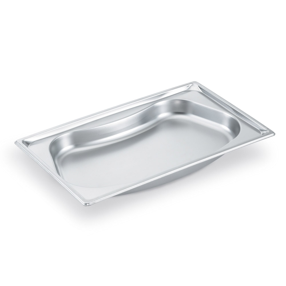 Vollrath 3101120 Super Pan Shapes Full-Size Steam Pan - Kidney, Stainless