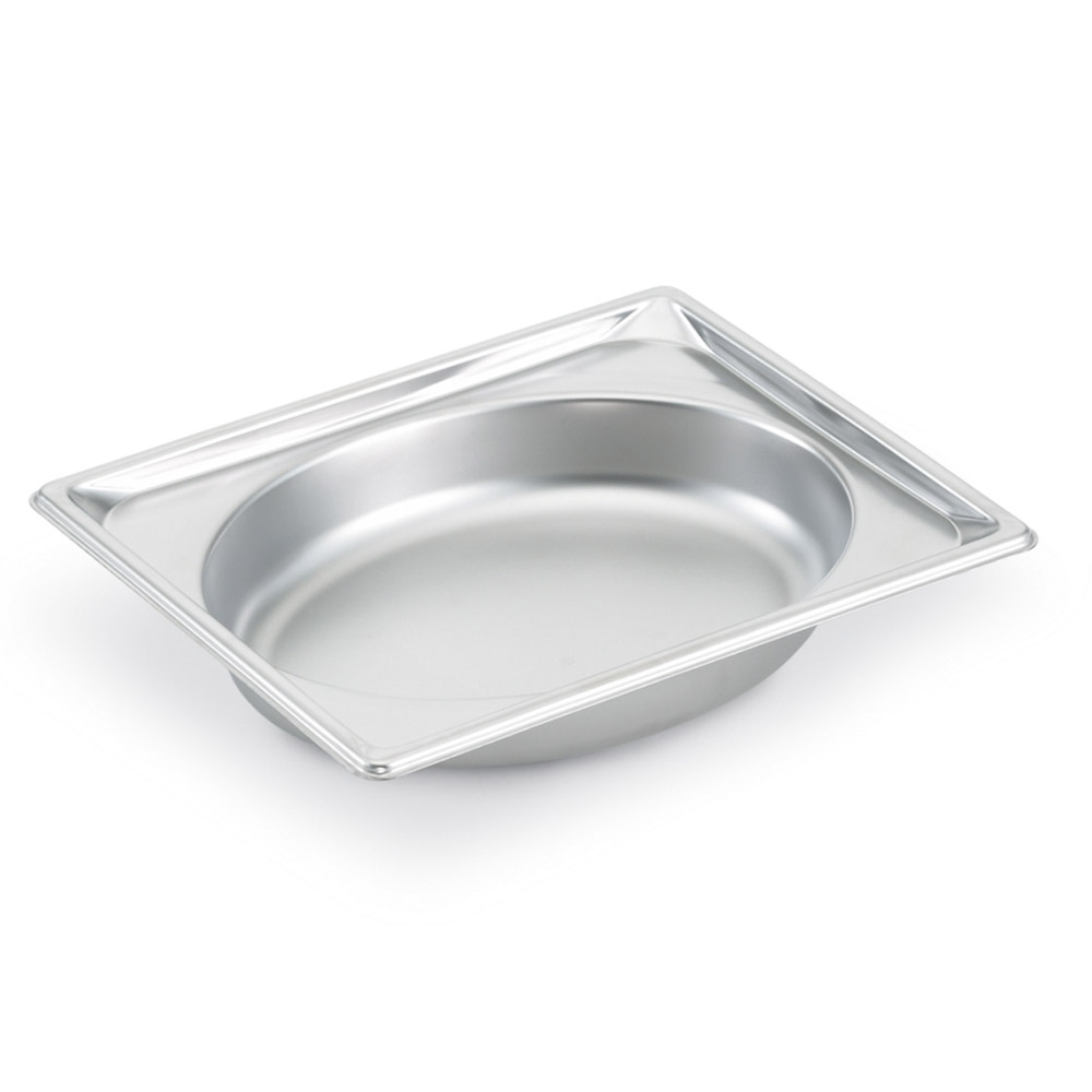 Vollrath 3102020 Super Pan Shapes Half-Size Steam Pan - Oval, Stainless
