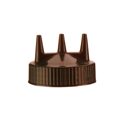 Vollrath 3300-01 Tri Tip Replacement Top for 16, 24 & 32-oz Wide Mouth, Brown