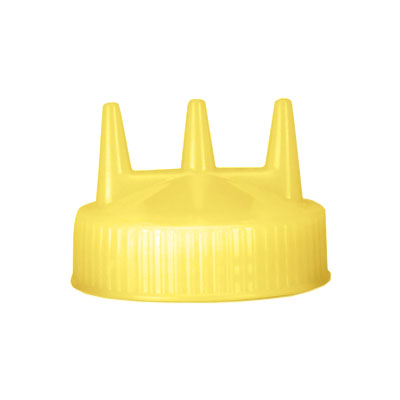 Vollrath 3300-08 Tri-Tip Replacement Cap - For 16,24,32-oz, Wide Mouth, Yellow