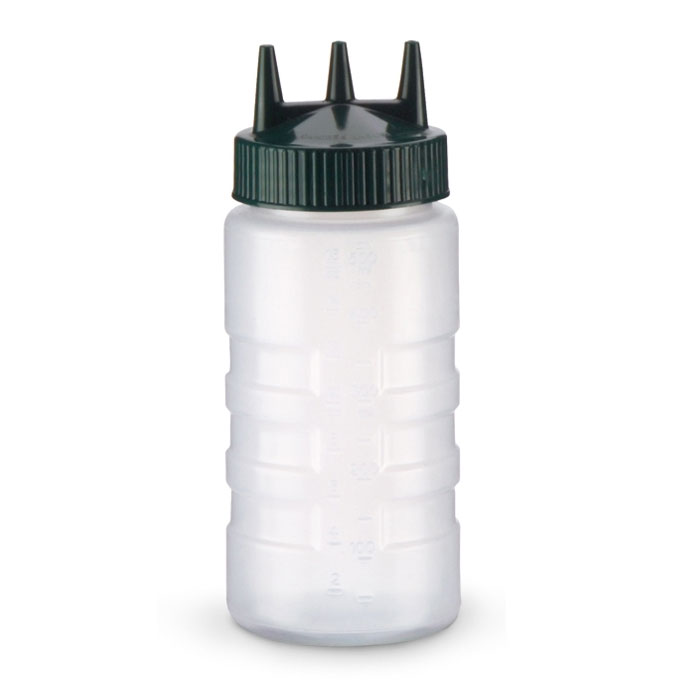 Vollrath 3316-13191 16-oz Squeeze Bottle - Wide Mouth, Green Cap, Clear