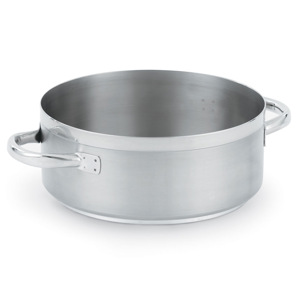 Vollrath 3328 28-1/2 qt Induction Casserole Brazier Pan - Aluminum Bottom, 18-ga Stainless