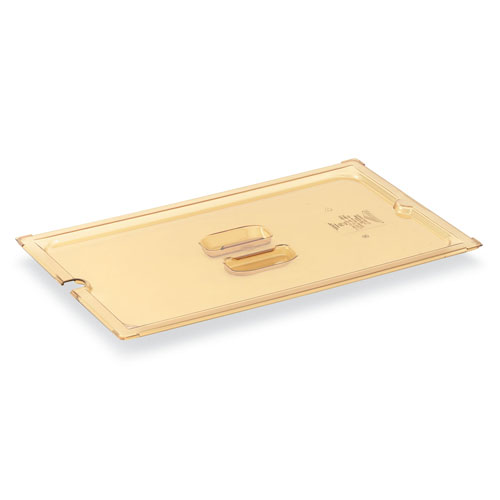 Vollrath 34300 1/3 Size High-Heat Slotted Food Pan Cover - Amber