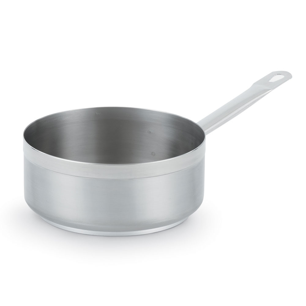 "Vollrath 3604 9-1/2"" Induction Saute Pan - 4-1/2-qt, Aluminum Bottom, 18-ga Stainless"