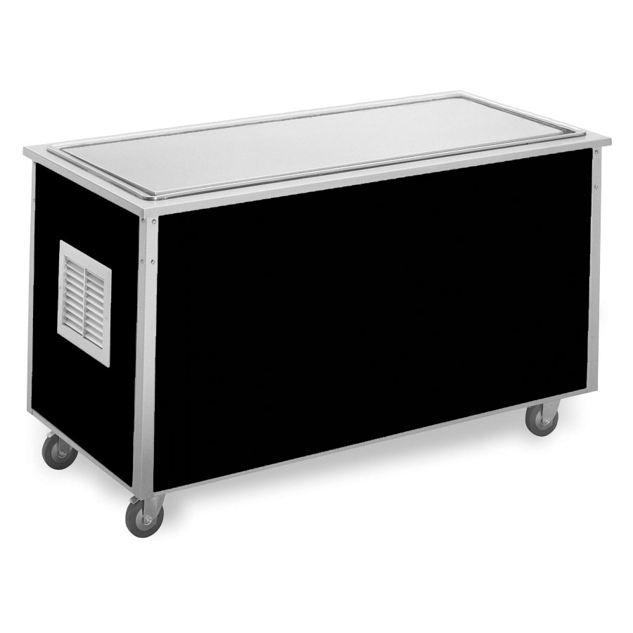 "Vollrath 36113 60"" Frost Top Serving Station - 20x48"" Stainless Surface, 30""H, Drain, Black"