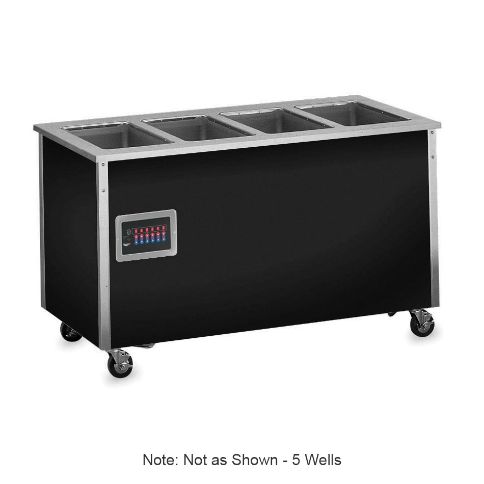 "Vollrath 36150 74"" Hot Food Bar - 5 Full Size Pan Wells, 30x74x28"", Enclosed Base, Stainless"
