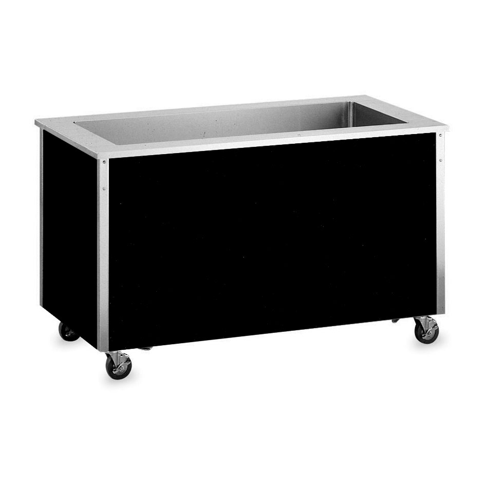 "Vollrath 36160 60"" Non-Refrigerated Cold Food Bar - 4 Full Size Pan Wells, 30x60x28, Stainless"