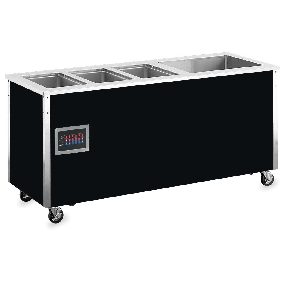 "Vollrath 36291 74"" Hot/Cold Food Station - 3 Hot Wells, 1 Cold Pan, 27x74x28"", Stainless"
