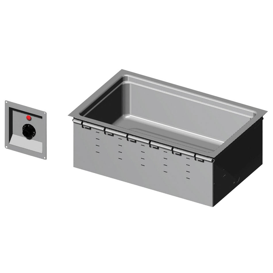 "Vollrath 36352 36"" Bottom Mount Drop-In Hot Food Well - Retrofit 120v"