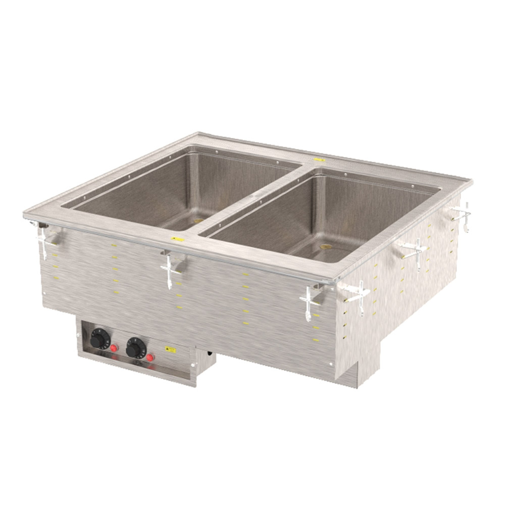 Vollrath 3640061 2 Well Modular Hot Drop-In Infinite Manifold Drain Auto Fill 1000 W 208-240 Restaurant Supply