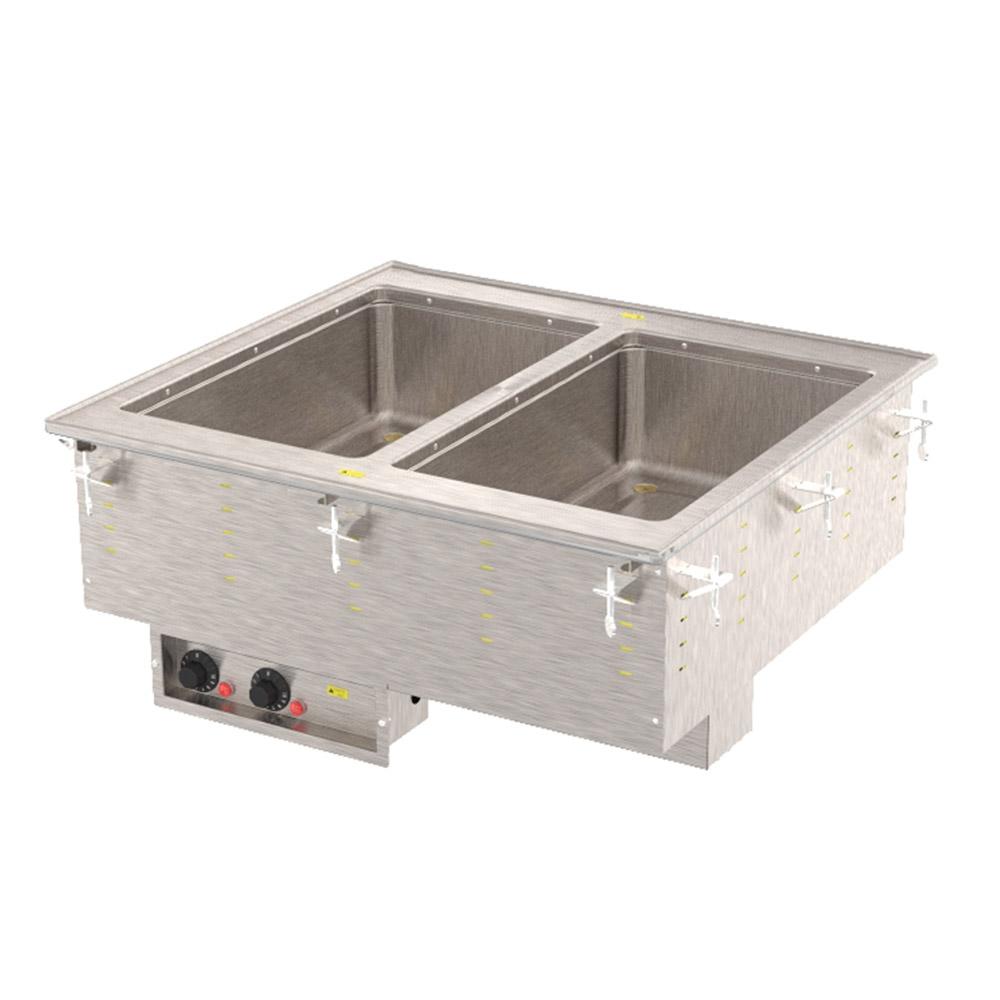 Vollrath 3640081 2-Well Modular Drop-In - Thermostat, Manifold Drain, Auto Fill, 1000W, 208-240v