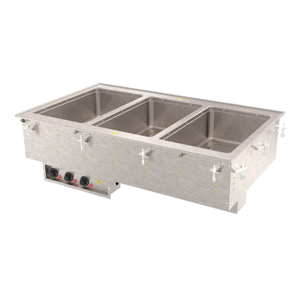 Vollrath 3640501 3-Well Modular Drop-In - Infinite, Standard Drain, 1000W, 208-240v