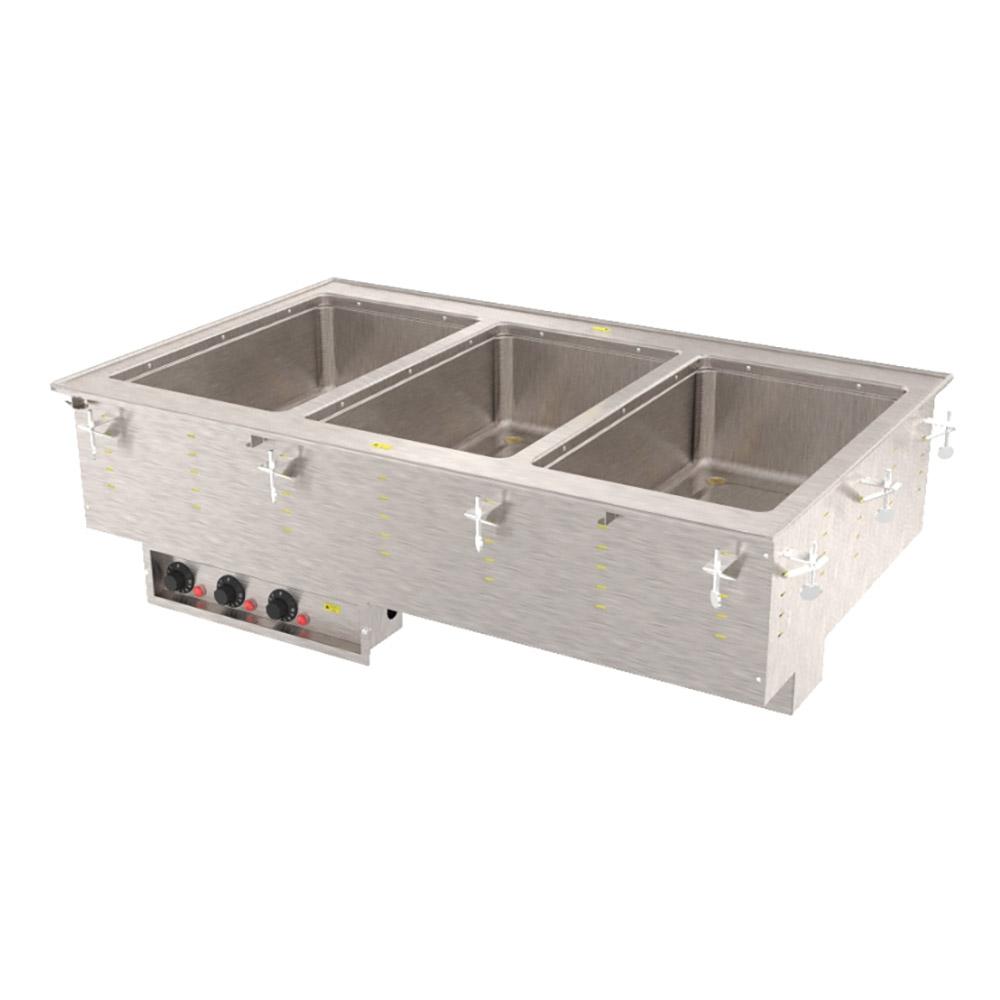 Vollrath 3640580 3-Well Modular Drop-In - Thermostat, Manifold Drain, Auto Fill, 625W, 208v