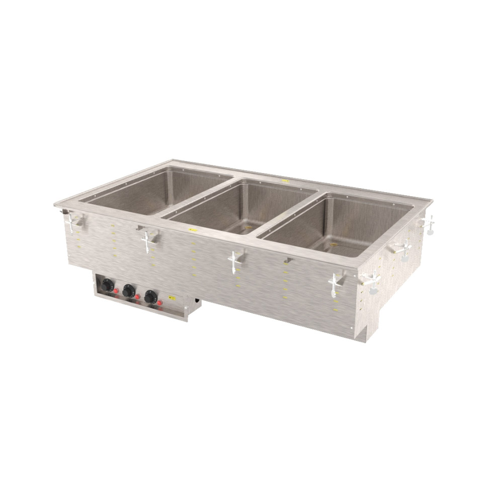 Vollrath 36405 3-Well Modular Drop-In - Infinite, Standard Drain, 625W, 208v