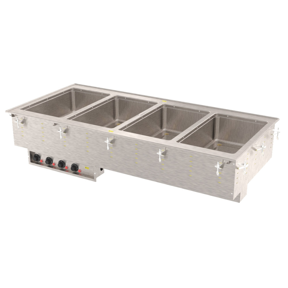 Vollrath 3640610 4-Well Modular Drop-In - Thermostat, Standard Drain, 625W, 120v