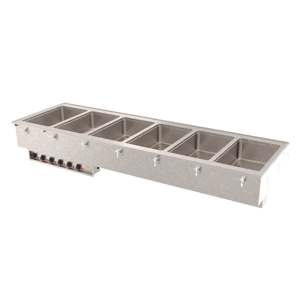 Vollrath 3640960 6-Well Modular Drop-In - Infinite, Manifold Drain, Auto Fill, 625W, 208v