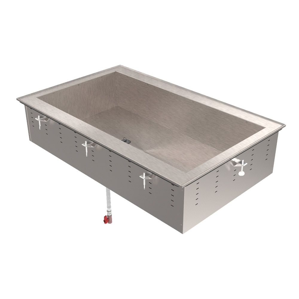 "Vollrath 36454 82"" Drop-In Cold Well w/ (6) Pan Capacity, Ice Cooled"