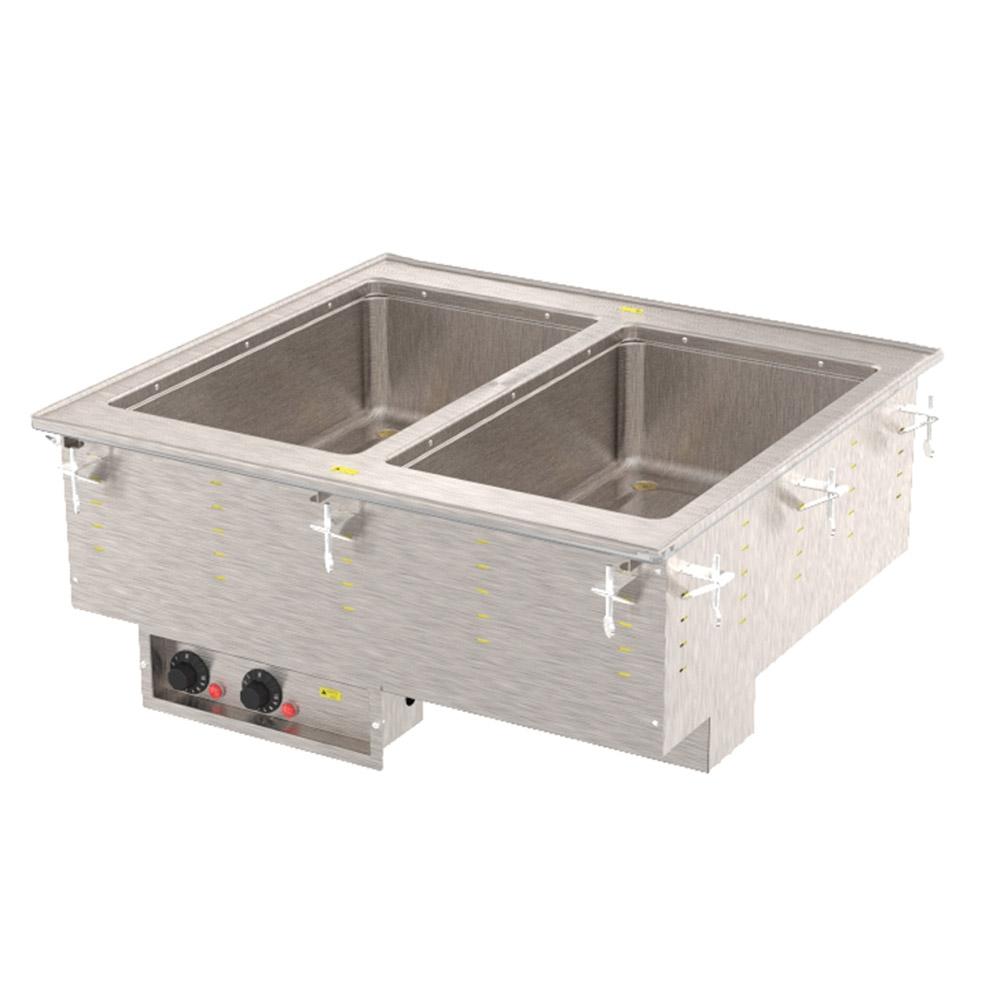 Vollrath 3647260 2-Well Modular Drop-In - Auto-Fill, Infinite Control, Manifold Drain, 625W 240v