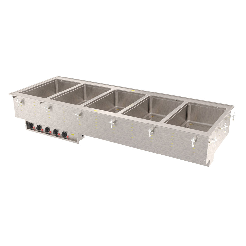 Vollrath 36475 5-Well Modular Drop-In - Infinite Control, Standard Drain, 625W 240v