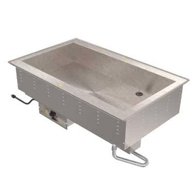 Vollrath 36501 208 2-Pan Bain Marie Drop-In - Thermostat Control, Standard Drain, 1250W 208v