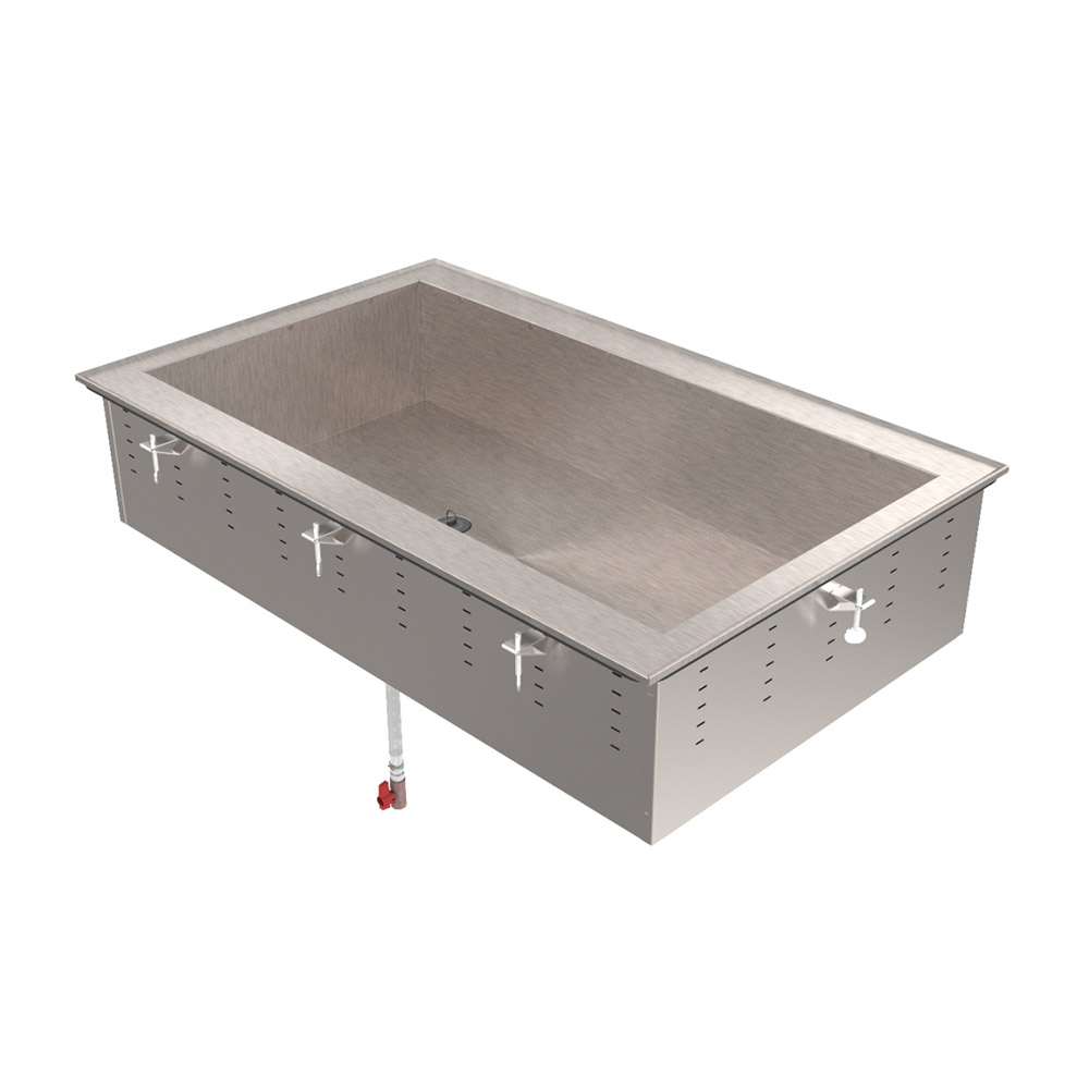 "Vollrath 36657 67"" Drop-In Cold Well w/ (3) Pan Capacity, Ice Cooled"