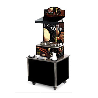 Vollrath 3702802 Soup Kiosk Merchandiser with Tuscan Graphics - Cup/Bowl Dispenser, 34x28x78