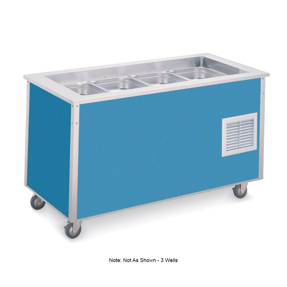 "Vollrath 37046 3-Well Cold Food Station - 6-5/8"" Deep Wells, 1/4HP Compressor, 34x46x28, Black"
