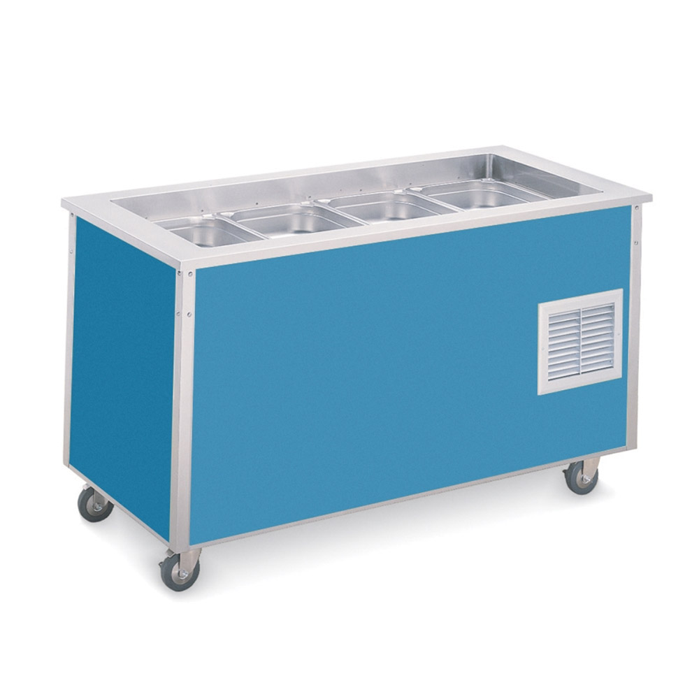 "Vollrath 37066 Standard 7 Cold Food Station - 6"" Deep Wells, 34x60x28, Black"