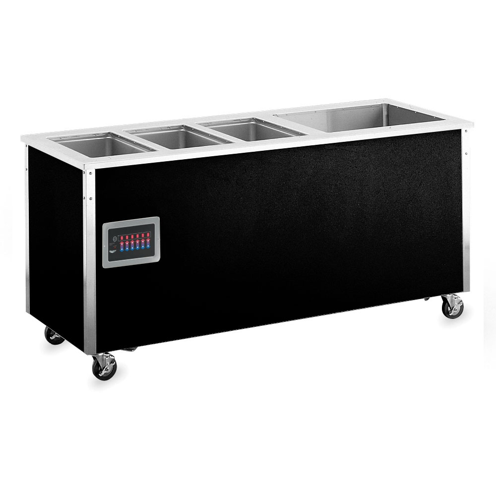 Vollrath 37091 4-Well Hot/Cold Food Station - Non-Refrigerated, Thermostat, Manifold, 34x74x28