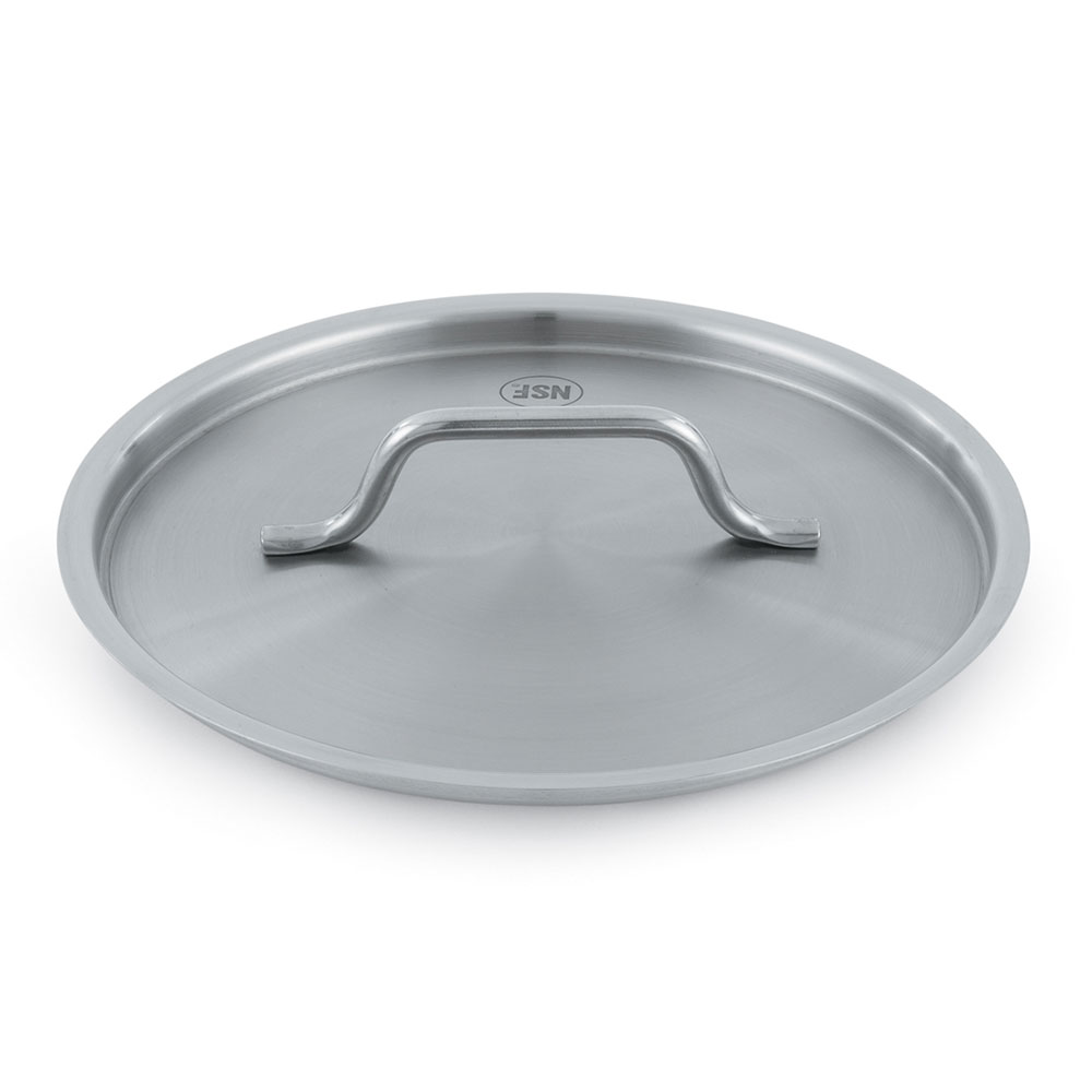 "Vollrath 3709C 9-1/2"" Saucepan Cover - Flat, Stainless"