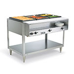 Vollrath 38003 3-Well Hot Food Table - Thermostat, Plate Rest, Cutting Board, 120v