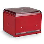 "Vollrath 3802-02 Double-Side Straw Dispenser - 500 Capacity, 9x7-1/2x7"", Red"
