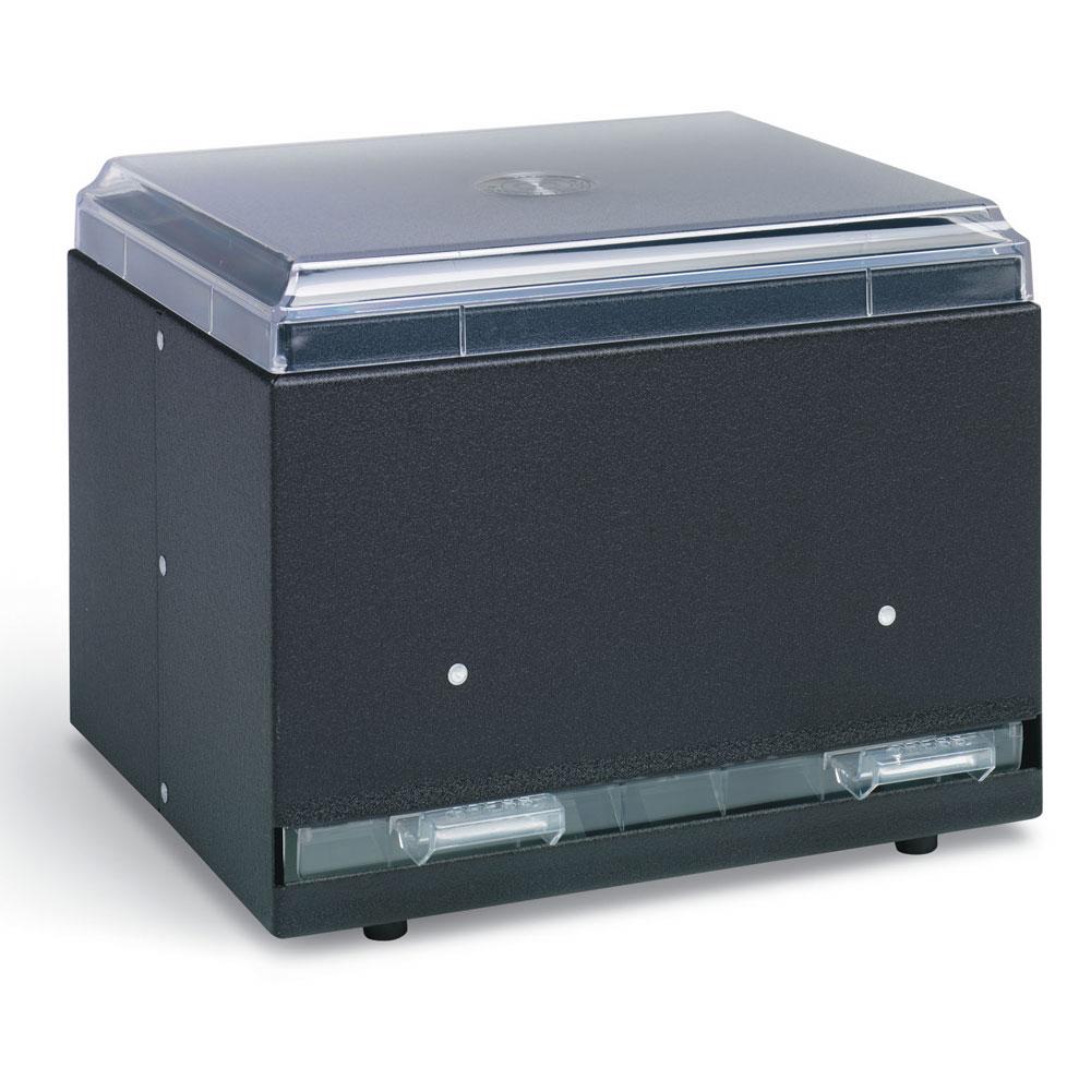 "Vollrath 3802-06 Double-Side Straw Dispenser - 500 Capacity, 9x7-1/2x7"", Black"