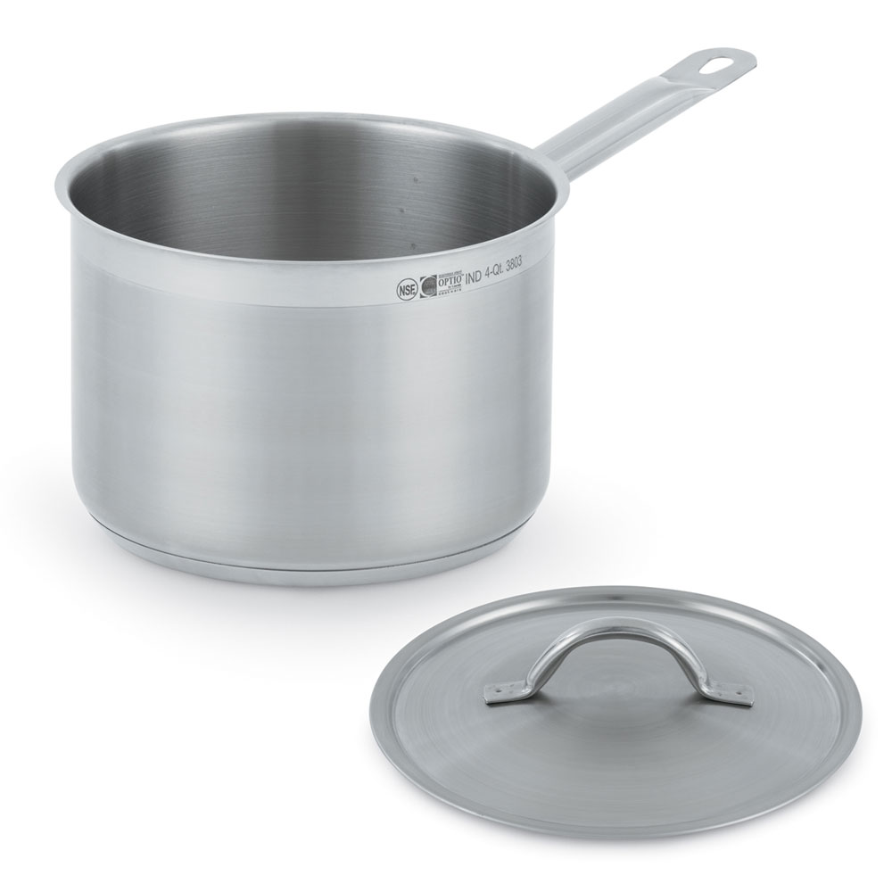 Vollrath 3803 4-qt Stainless Steel Saucepan w/ Hollow Metal Handle
