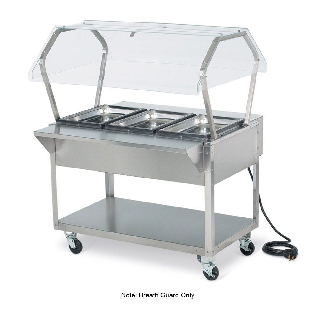 "Vollrath 38065 76"" Buffet Breath Guard - 76x35-3/8x23-1/2"