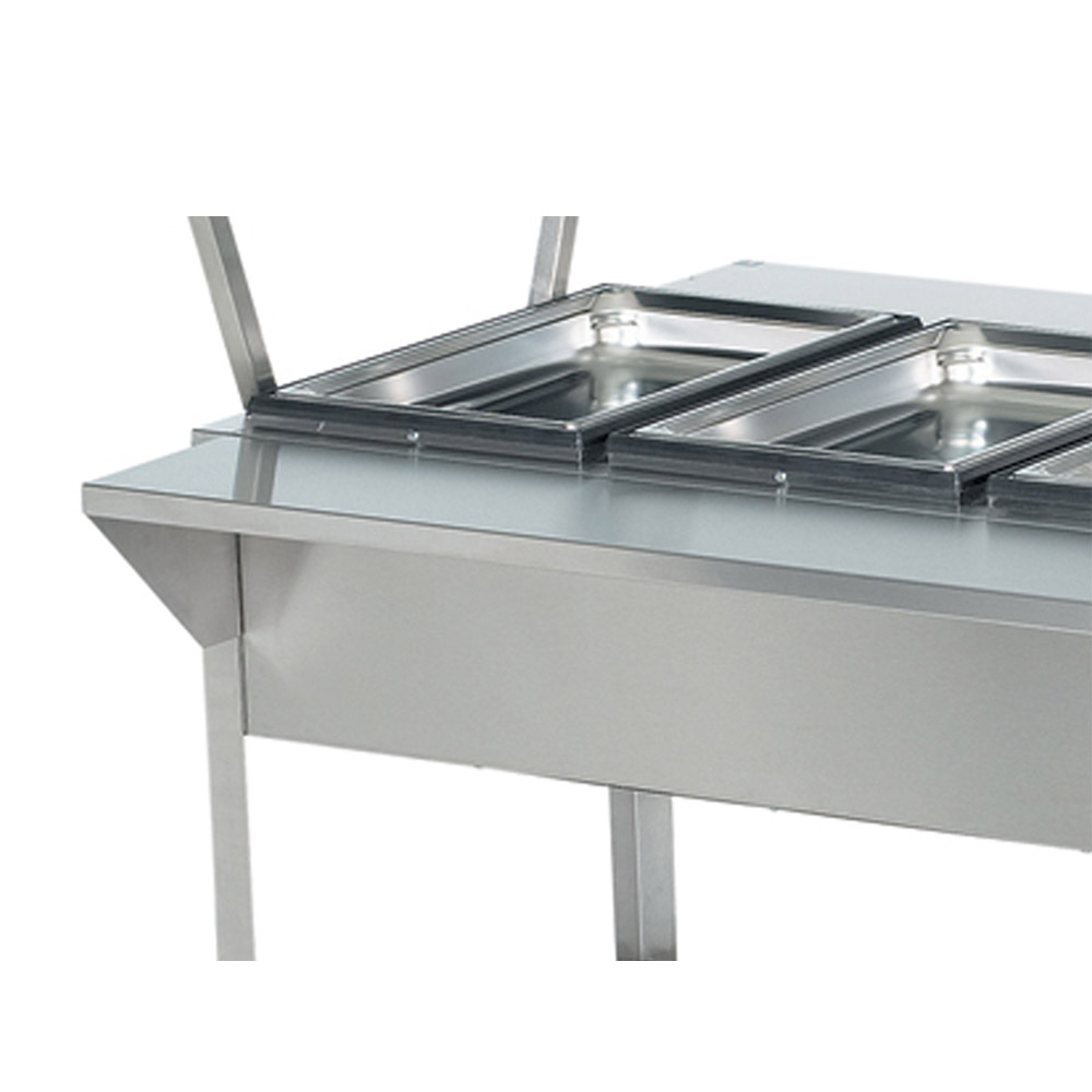 "Vollrath 38095 76"" Customer Side Plate Rest - 76x8x1"" Stainless"
