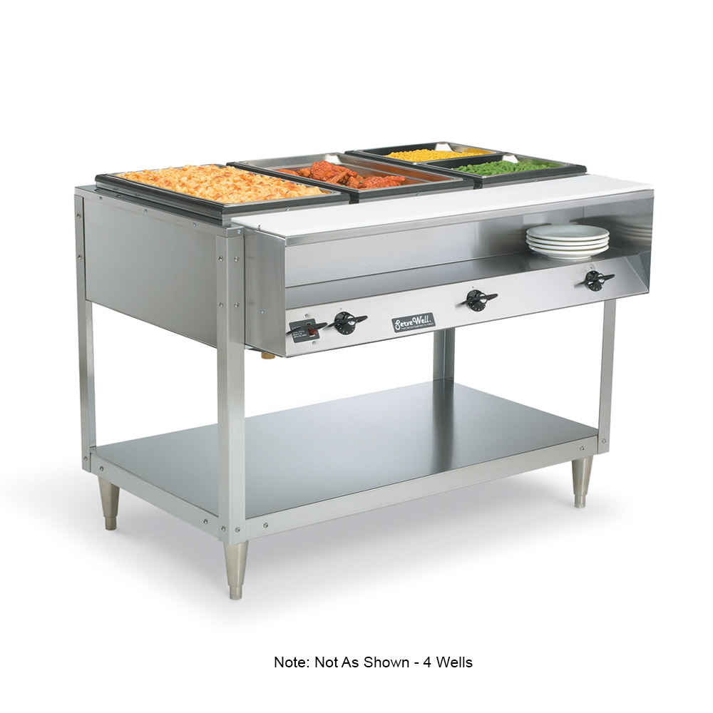 Vollrath 38119 5-Well Hot Food Table - (5)Thermostat, Plate Rest, Cutting Board, 208-240v