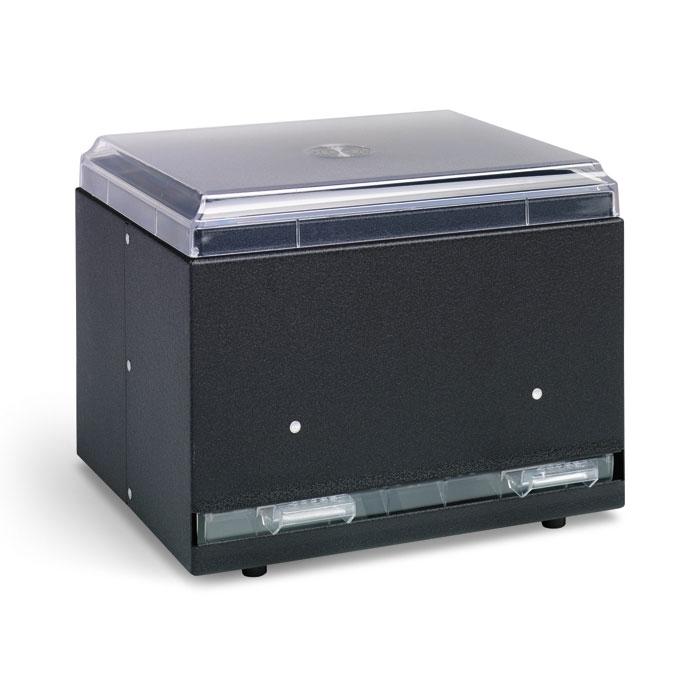"Vollrath 3855-06 Single-Side Straw Dispenser - 500 Capacity, 9x7-1/2x7"" Black"