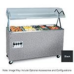 Vollrath 387112 4 Well Portable Hot Food Station, Breath Guard, 208-240V, 60 in, Black