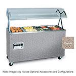 Vollrath 3872846 3-Well Hot Food Station - Lights, Breath Guard, Open Base, Granite 120v