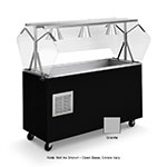 Vollrath 38737 4-Well Cold Food Station - Breath Guard, Non-Refrigerated, Open Base, Granite