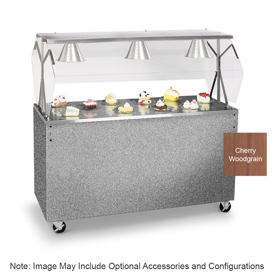 """Vollrath 3876246 46"""" Utility Station - Breath Guard, Lights, Open Base, Cherry"""