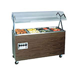 Vollrath 387692 46-in Hot Food Bar, 3-Well w/ Storage Base, Cherry, 208-240 V